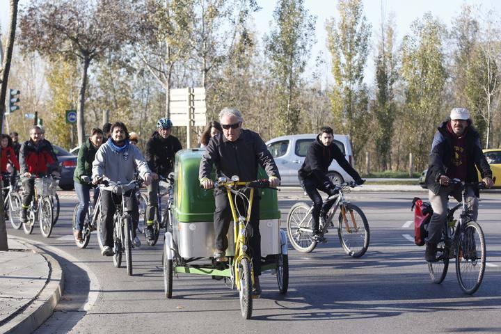 ANIOL RESCLOSA -   GIRONA -  BICICLETADA MOUTE EN BICI CONTRA EL CANVI CLIMATIC