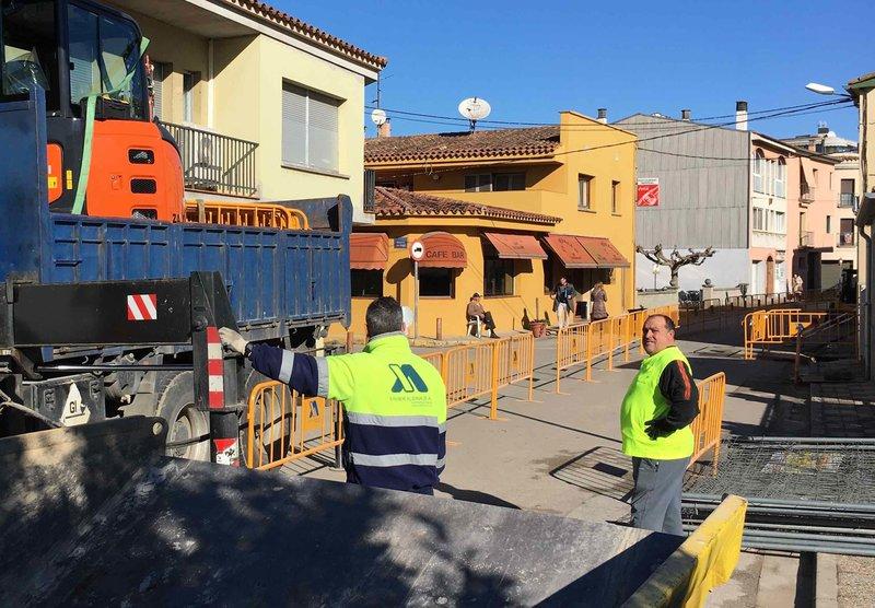 Vilablareix. Obres al carrer Perelló  Foto: El Punt Avui
