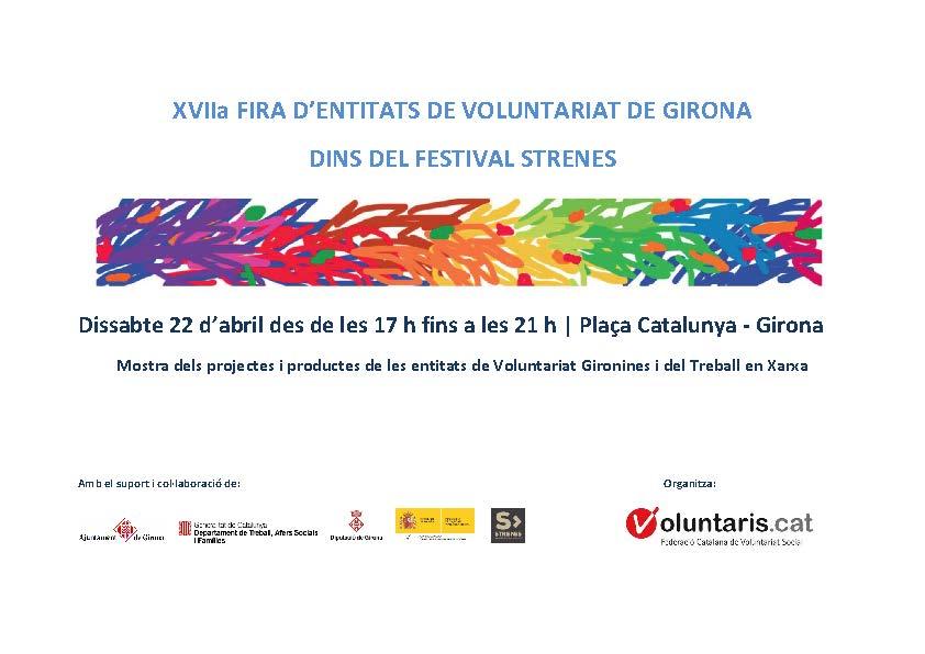 17ª Fira d´Entitats de Voluntariat