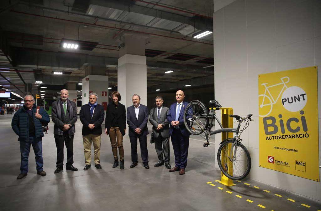 Punt Bici a l'estació de Bus de Girona