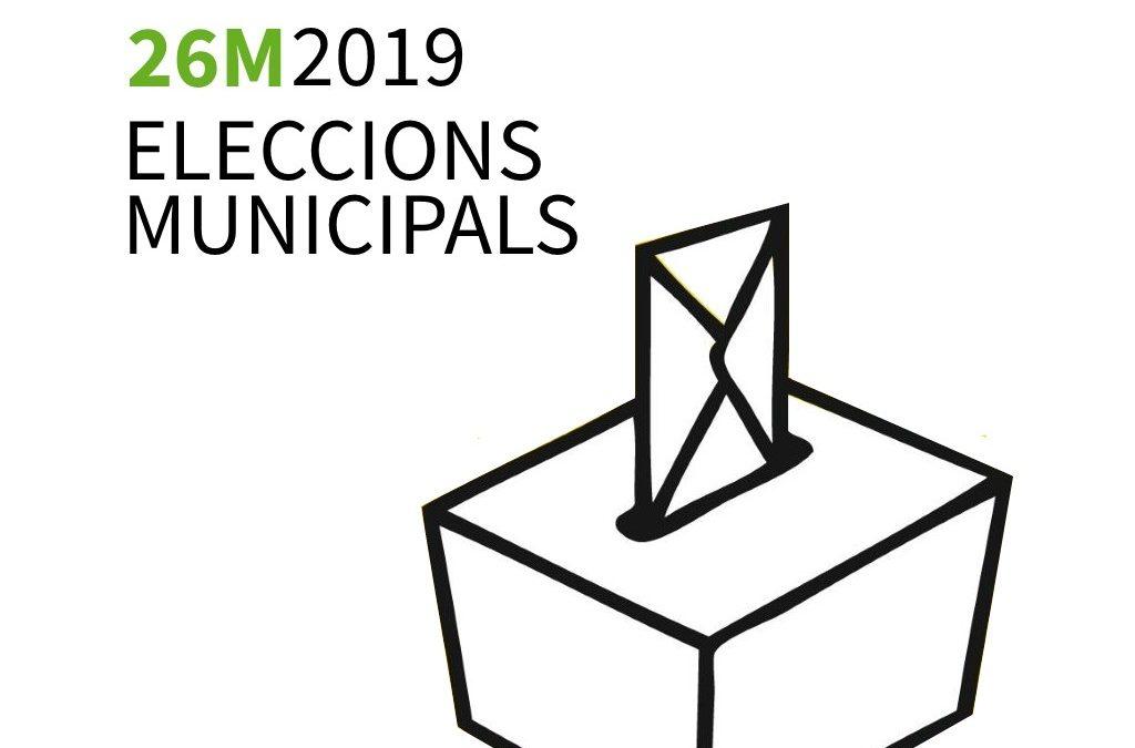 Eleccions municipals 26 de maig de 2019