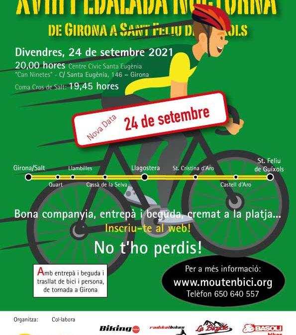 Pedalada Nocturna a Sant Feliu de Guíxols 2021