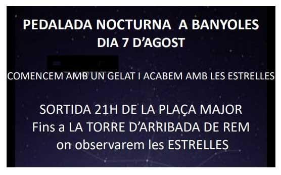 Pedalada nocturna a Banyoles 2021